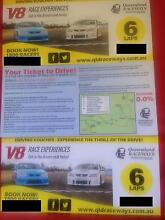 ** REDUCED** 3 x V8 Experience Tickets - YOU DRIVE A V8! Petrie Pine Rivers Area Preview