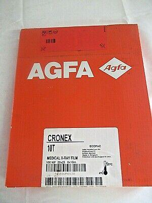 Agfa Drystar Cronex 10t X-ray Film Pack 100 Nif 20x25 8x10 Inch