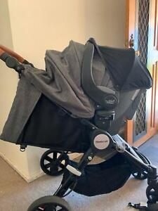 Steelcraft Agile Elite stroller and Britax safe n sound Unity capsule