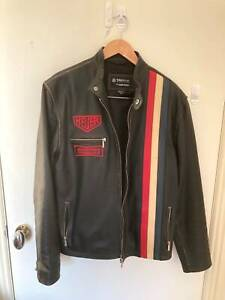 TAG Heuer Leather Jacket, Mens Size XL