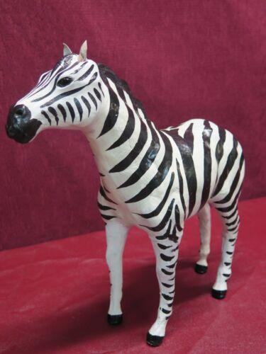 "Leather Wrapped 12"" Zebra Safari Animal Decorating"