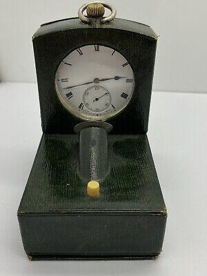 Vintage WW1 U.S.A Sterling Silver Pocket Watch & Night Light Desk Stand