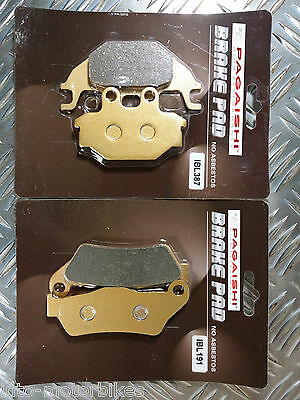 <em>YAMAHA</em> YZF R125 FRONT  REAR BRAKE DISC PADS SEMI METALLIC 2008 TO 201