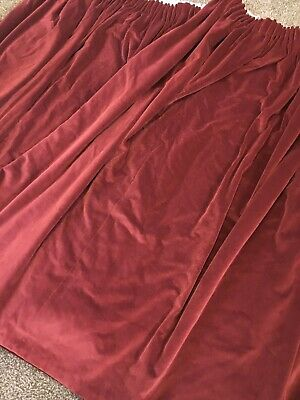 Pair Of Lined Vintage Red Velvet Curtains 60Inch Drop 64Inch Wide