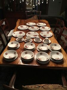 Rosewood China set