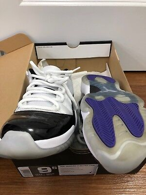 Nike Air Jordan 11 Low Concord XI Retro Black White 528895-153 Sz