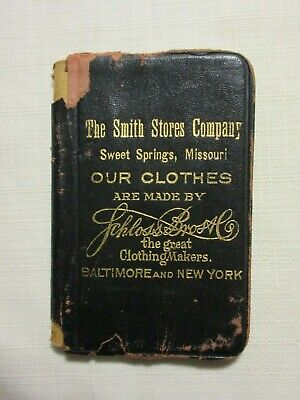 SWEET SPRINGS MISSOURI MO ~ SMITH STORES DRY GOODS & CLOTHING ~ POCKET BOOK