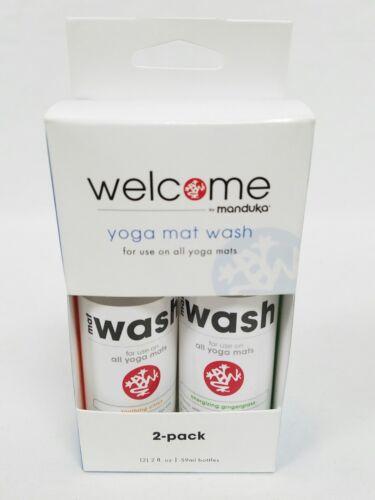 Welcome Manduka Yoga Mat Wash 2 Pack Soothing Citrus Energiz