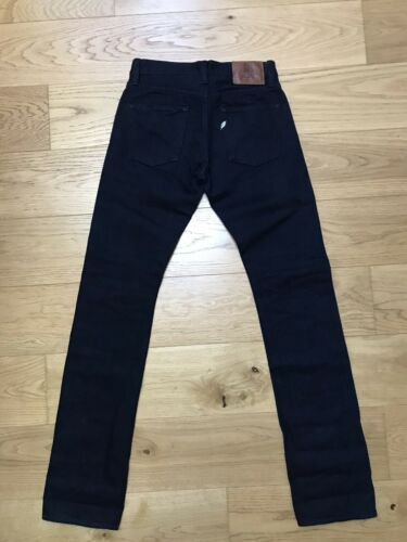 Pure blue japan xx-012 deep indigo selvedge denim jean 14 oz slim tapered