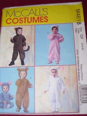 Pig Costume Pattern (🌺 McCALL'S #M4618 - TODDLER LION - PIG - BEAR & RABBIT COSTUME PATTERN 4-6)