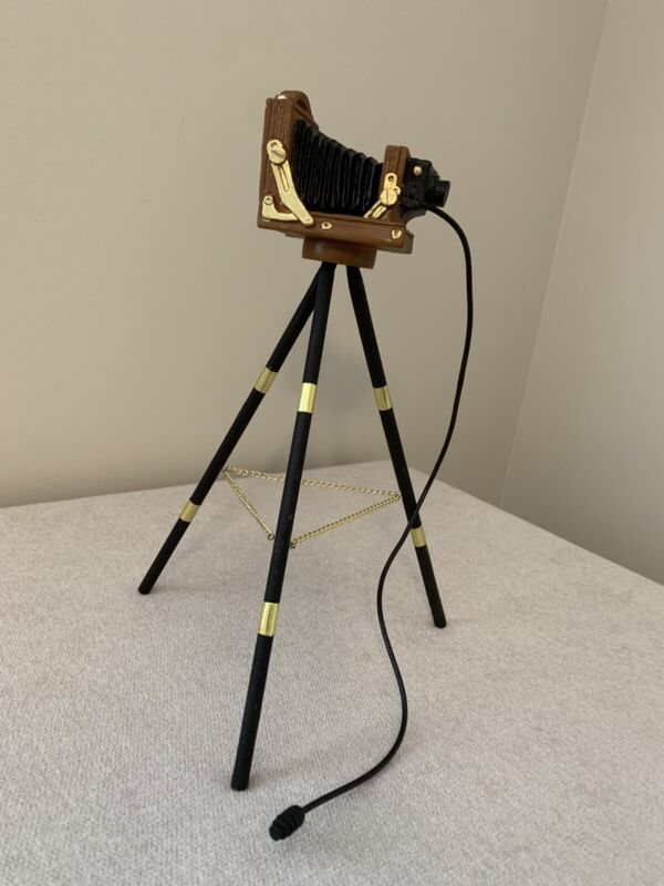 """Byers Choice Photographer's Camera and Tripod Only 9"""""""