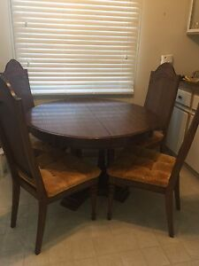 Dining room table, 6 chairs and china cabinet.