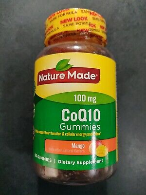 Nature Made CoQ10 Gummies 100mg Mango with other natural flavors 60 Gummies Other Natural Flavors