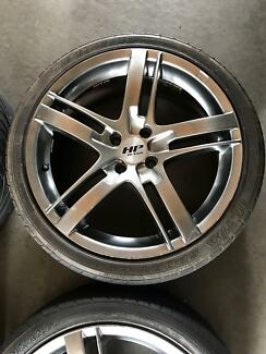 Alloy Wheels  (HP Design) and Tyres to suit Mazda 323