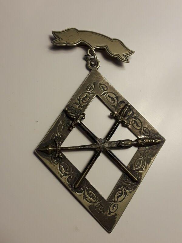 Knight Of Pythias 1874 SS Davis Supreme Lodge Unknown Metal Nickel/Silver?