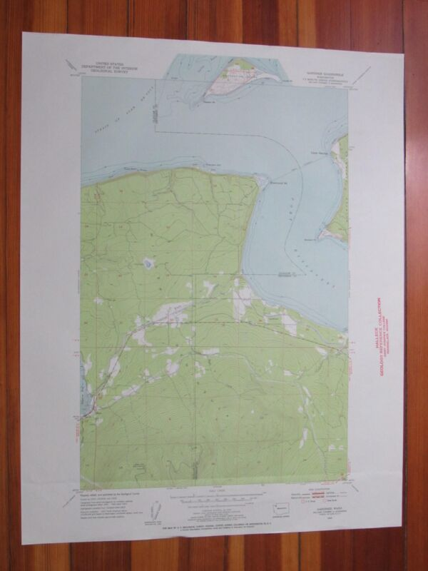 Gardiner Washington 1955 Original Vintage USGS Topo Map