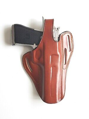 DESERT EAGLE FITS ALL CALIBERS WITH 6'' Leather Holster  HAND MADE