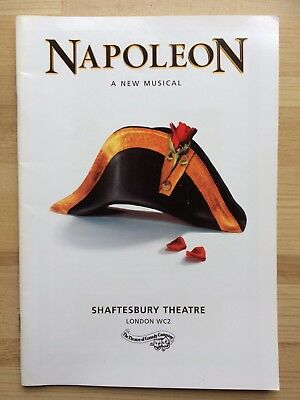 Napoleon - A New Musical - Programme - Shaftesbury Theatre London - 2000