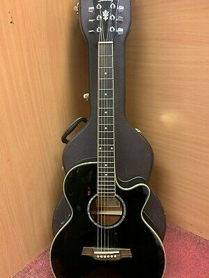 (NE6) Ibanez AEG10E Elecro Acoustic Guitar, In Hard Case, Right Handed Black