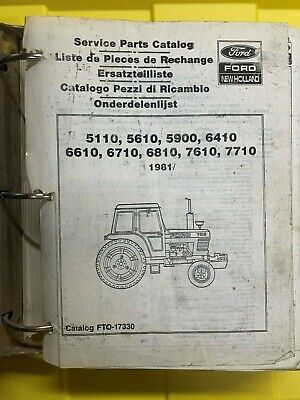 Ford New Holland Parts Catalog 5110 5610 5900 6410 6610 6710 6810 7610 7710