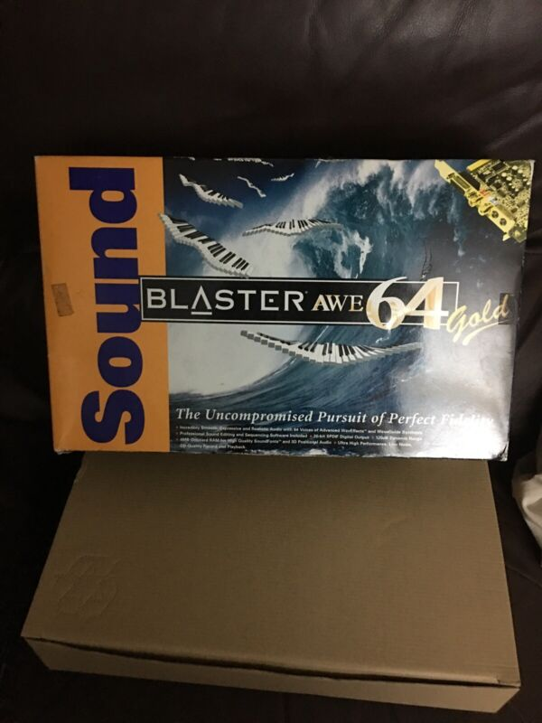 NEW Creative Labs Sound Blaster AWE64 Gold  Retail Box SB4390