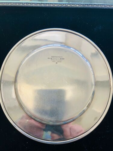 """TIFFANY & CO. SMALL STERLING SILVER 6"""" DIAMETER PLATE,  1907-1947"""