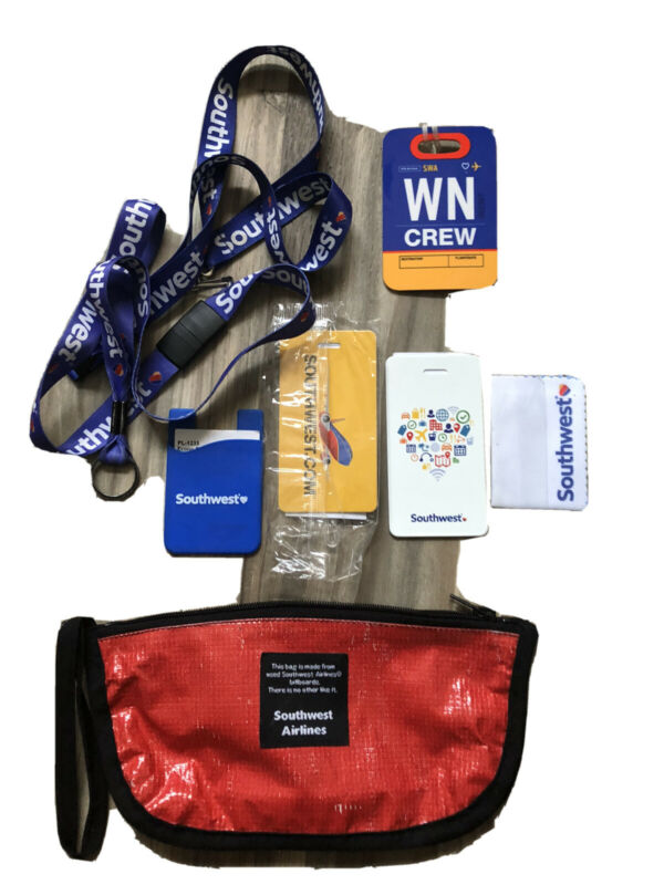 Southwest Airlines Luggage Tags/Cosmetic Bag/Lanyards