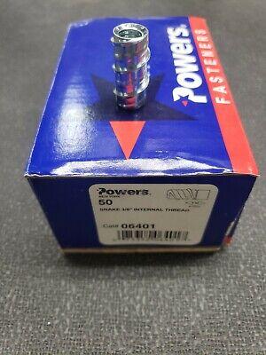 Powers Fasteners Snake 38 Internal Threaded Fastener 06401 50pc Per Box