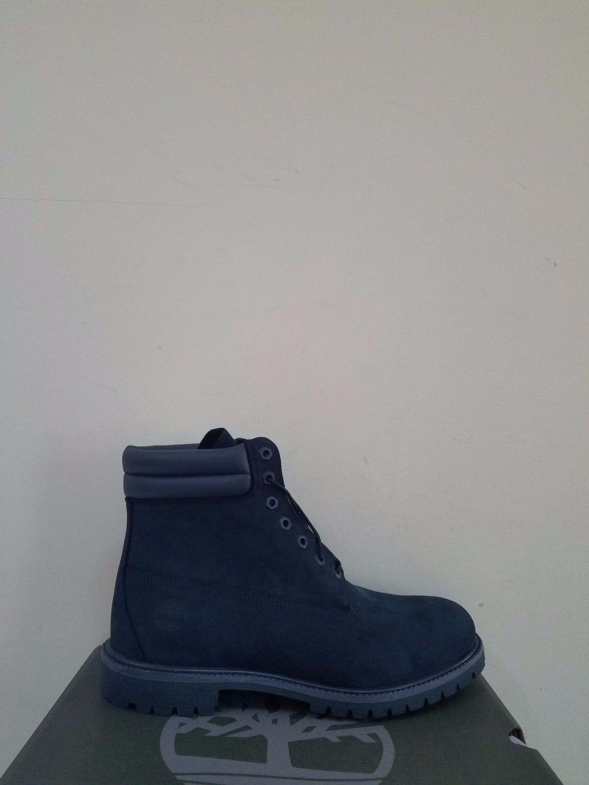 Timberland Men's 6-Inch Premium  Waterproof Navy Boots NIB