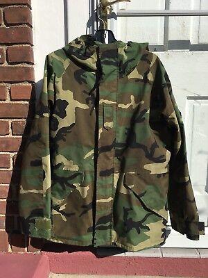 ECWCS Gore-Tex Waterproof Jacket BDU Woodland Camo Parka Cold Weather..Medium