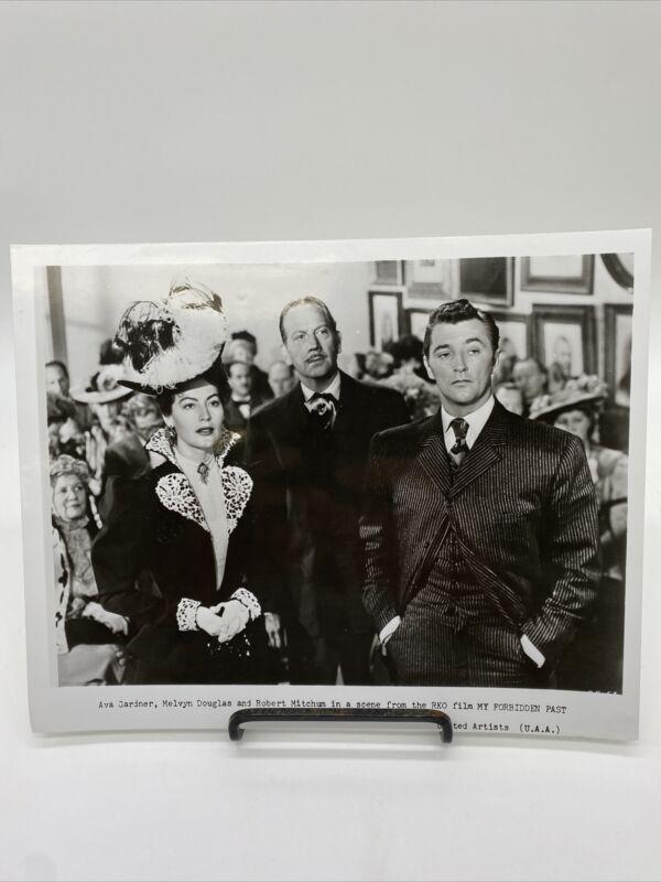 1951 My Forbidden Past Movie Promo Photograph Robert Mitchum, Ava Gardner