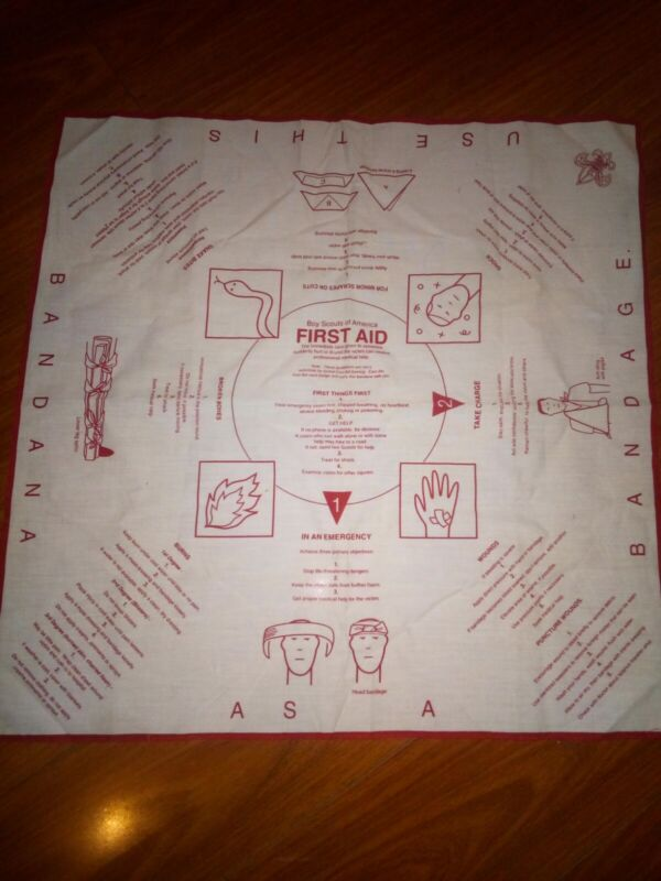 Vintage Boy Scouts Of America First Aid Bandana