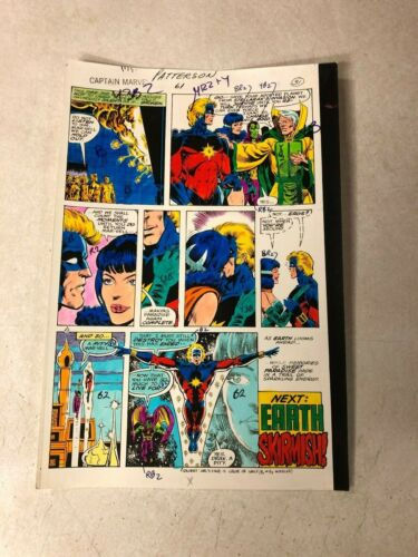 CAPTAIN  MARVEL #61 art color guide 1979 ELYSIUS KISSES MARVEL DRAX LAST PAGE