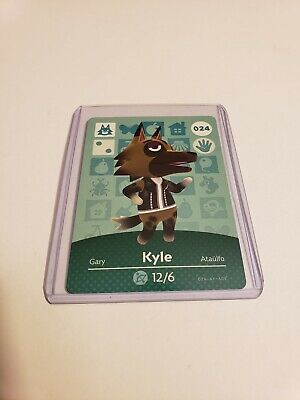 Kyle # 024 Animal Crossing Amiibo Card Horizons Series 1 MINT NEVER SCANNED!