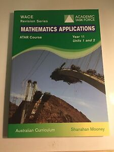 Maths Applications Y11 revision textbook Halls Head Mandurah Area Preview