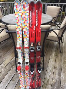 Girls skis size 130 good condition