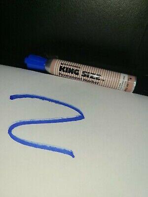 Nos Vintage Lot Of One 1 Sanford King Size Permanent Marker Blue Metal Barrel