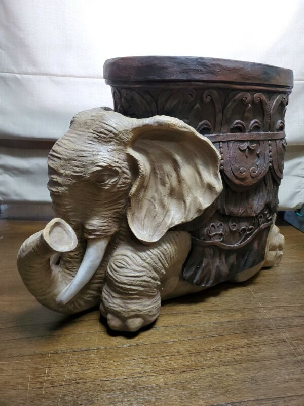 New Beautiful Tin Elephant Free-Standing Sculpture, Table, Footstool or Display