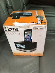 iHome Lighting Dock Radio Alarm Clock Speaker - iPL10 -iPod/iPhone 5/5C/5S/6/6s+