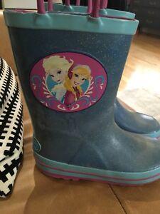 Frozen girls rain boots size 11