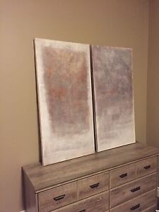 Set of large wall art pieces
