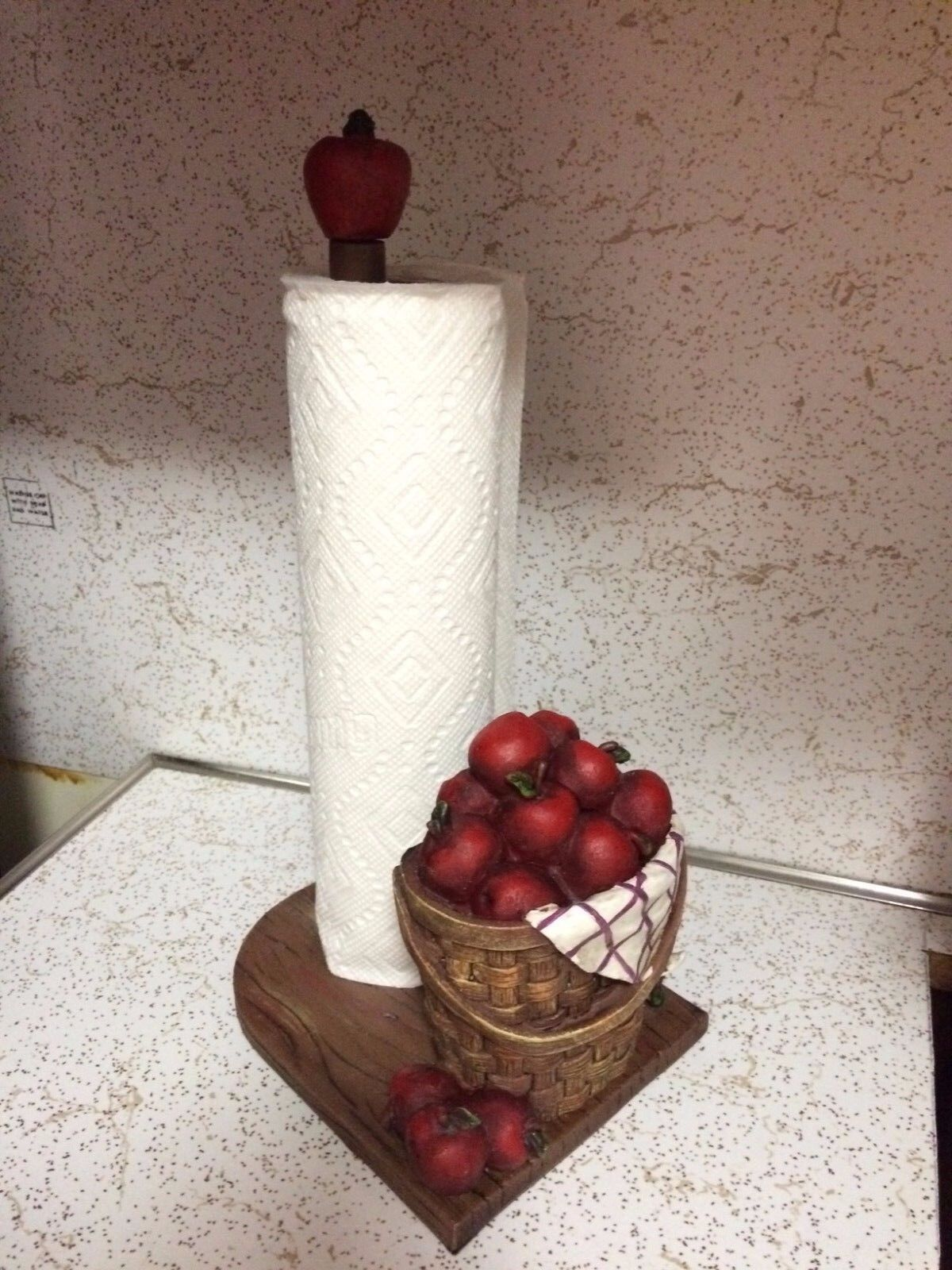 Orchard Red Apple Kitchen Paper Towel Holder Apple Bushels Country
