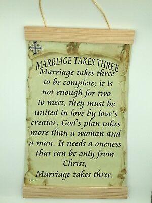 Marriage Takes Three, Canvas Wall Print, 8x12