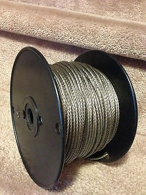 """1/8"""" Stainless Steel Wire Rope Cable - 7x7 - 100ft on Rummage"""