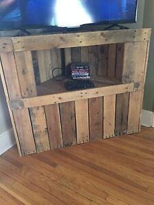 Tv stand and 3 end table rustic style