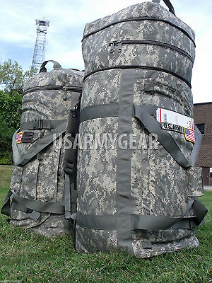 Made in USA Military Army Huge Acu Rolling Wheels Deployment Bag Lugagge Duffle