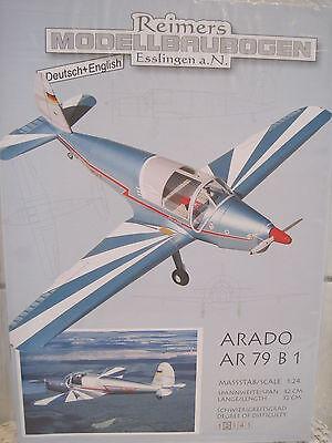 Arado AR 79 B1 Flugzeug Propellerflugzeug Kartonbausatz NEU Bastelbogen