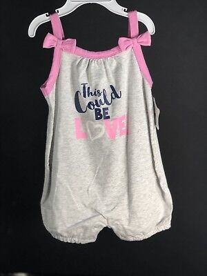 Baby Clothes Girl Nursery Rhyme One Piece Gray & Pink Sleeveless SZ 12 Month NEW for sale  Shipping to India