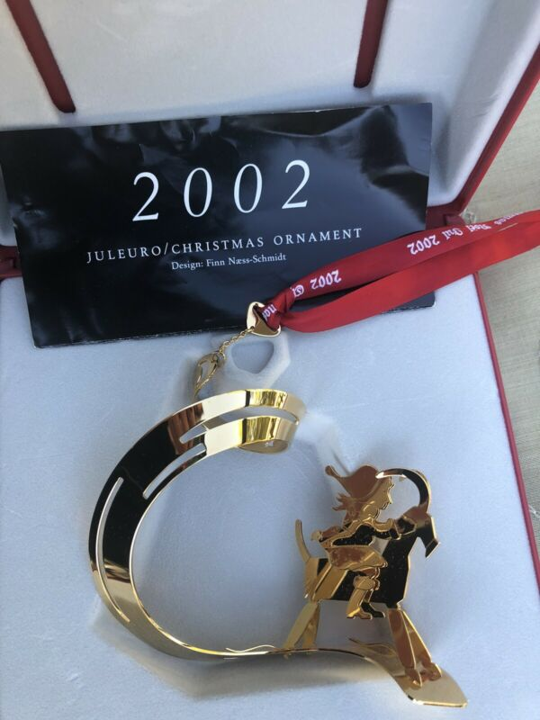 2002 GOLDEN CHRISTMAS MOBILE 24 carat gold plated GEORG JENSEN DENMARK With Box