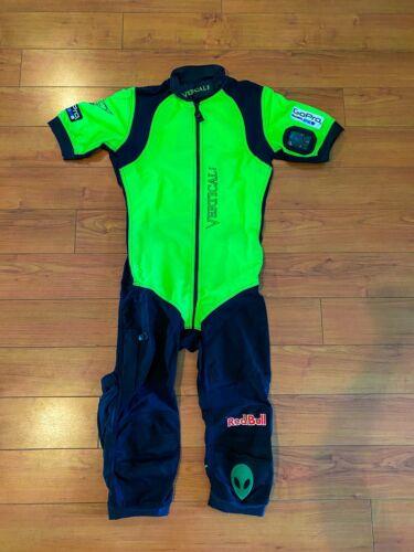 Vertical Mens Skydiving Jumpsuit, Viper Shortie Suite, Green & Black